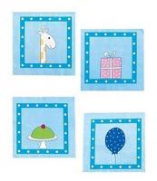 Jabadabado Geburtstags-Blaue Serviette