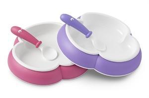BABYBJÖRN® Kinderteller und Kinderlöffel 2-Pack, Pink/Lila