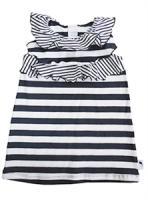 STUMMER Sommer Kleid blau/weiß gestreift Gr. 74