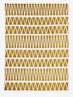 VERTBAUDET Kinderzimmer-Teppich, grafisches Muster senf